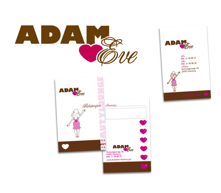 brainbreak Grafik Corporate Design Referenz: Adam & Eve Beautylounge