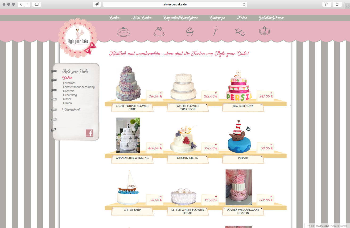brainbreak Grafik Onlineshop Referenz: Style your Cake
